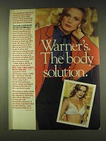 1979 Warner's It's the One Bra Ad - Body Solution