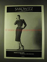 1979 Kasper for Joan Leslie Black Dress Fashion Ad