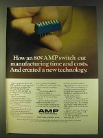 1979 AMP DIP Switch Ad - Cut Time and Costs