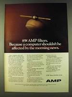 1979 AMP Filter Ad - Computer Shouldn't Be Affected