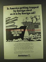 1979 Bethlehem Steel Ad - Trapped By Foreign Steel