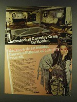 1979 Kohler Country Grey Bath Fixtures Ad
