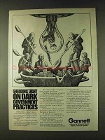 1979 Gannett Communications Ad - Dark Government