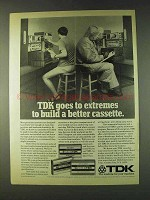 1979 TDK Cassettes Ad - Goes to Extremes