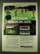 1979 Panasonic Portable VHS System & TC-481GR TV Ad