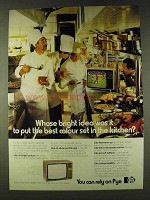 1979 Pye Television Ad - Whose Idea To Put in Kitchen