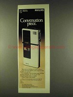 1979 Philips 195 Pocket Memo Ad - Conversation Piece