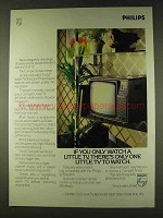 1979 Philips Compact Colour TV Ad - Watch a Little TV