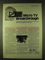 1979 Sinclair Micro TV Ad - Breakthrough