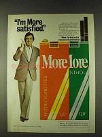 1979 More Cigarettes Ad - I'm More Satisfied