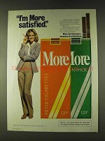 1979 More Cigarettes Ad - More Satisfied