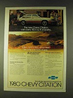 1980 Chevy Citation Ad - Can Carry 112.3 Cu. Ft.