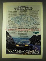 1980 Chevy Citation Ad - In Form and Function