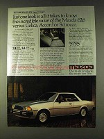1980 Mazda 626 Sport Coupe Ad - Just One Look