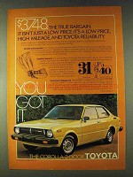 1979 Toyota Corolla 2-Door Ad - True Bargain