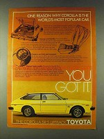 1979 Toyota Corolla SR-5 Liftback Ad - Most Popular