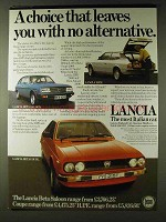 1979 Lancia Ad - H.P.E., Beta Saloon & Beta Coupe