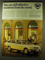 1979 Lancia Beta Saloon Ad - Stand Out From the Crowd