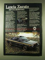 1979 Lancia Zagata Car Ad - Driving Redefined