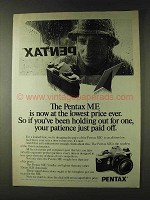 1979 Pentax ME Camera Ad - If You've Been Holding Out