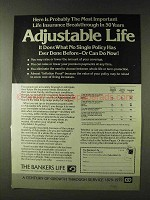 1979 The Bankers Life Ad - Adjustable Life