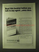 1979 The Bankers Life Ad - Before You Talk To Agent