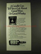 1979 Old Forester Whisky Ad - A Candle Can Tell
