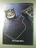1979 Seagram's Crown Royal Whisky Advertisement - Butler Did It