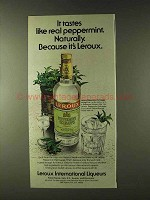 1979 Leroux Peppermint Schnapps Ad - Tastes Like Real