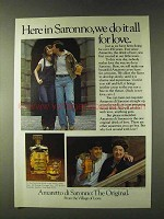 1979 Amaretto di Saronno Ad - We Do It All For Love