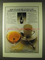 1979 Christian Brothers XO Rare Reserve Brandy Ad - Acquire