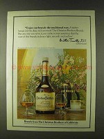 1979 Christian Brothers Brandy Ad - The Traditional Way