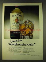1979 Jameson Irish Whiskey Ad - On The Rocks