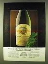 1979 Almaden Pinot Chardonnay Wine Ad - Our Children