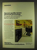 1979 Siemens All-Electronic Teleprinter Ad - Advanced