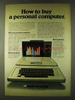 1979 Apple Computers Ad - How to Buy