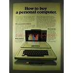 1979 Apple Computers Ad - How to Buy Personal