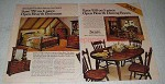 1979 Sears Open Hearth Bedroom & Dining Furniture Ad