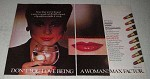 1979 Max Factor Colorfast Long Lasting Lipstick Ad