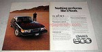 1979 Saab 900 Turbo Car Ad - Nothing Performs Like