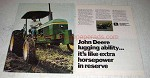 1978 John Deere Tractor Ad - Lugging Ability