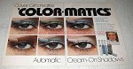 1978 Cover Girl Color-Matics Eye Shadow Ad