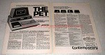 1978 Commodore PET 2001 Series Personal Computer Ad