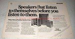 1978 Philips RH545, RH541 and RH544 Speakers Ad