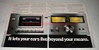 1978 Sony TCK1A Cassette Deck Ad - Beyond Your Means