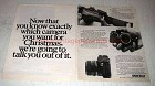 1978 Pentax ME Camera Ad - Want for Christmas