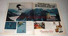 1976 Canadian Club Whisky Ad - Space Ski Mount Asgard