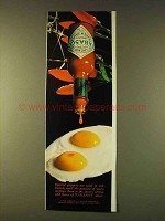 1979 Tabasco Pepper Sauce Ad - Eggs