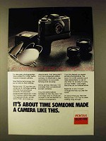 1979 Pentax Auto 110 Camera Ad - It's About Time