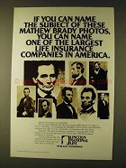 1979 Lincoln National Life Ad - Mathew Brady Photos